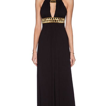 sky Neginoth Maxi Dress in Black