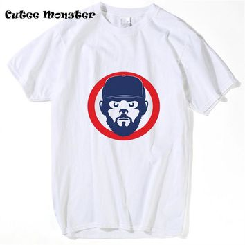 Chicago Cubs Jake Face T shirts 2017 White/Gray Streetwear Hip Hop baseball jersey T-shirt Clothing 3XL