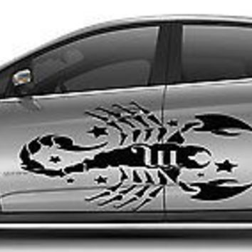 CAR VINYL SIDE GRAPHICS DECAL STICKER Cute Zodiac Sign Scorpion Animal A1468