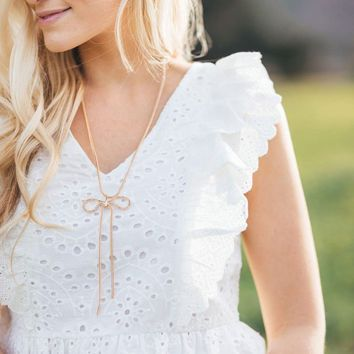 Lexie White Eyelet Ruffled Top