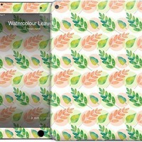 Watercolour Leaves & Circle Pattern iPad by Tanya Legere | Nuvango