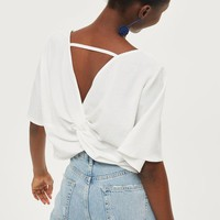 Twist Back Crop Top
