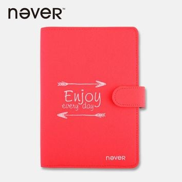 Never Fabric Cover Notebook And Journals 2017 Planner Personal Diary Agenda A5 With Sticker Ruler Post It Accessories Stationery