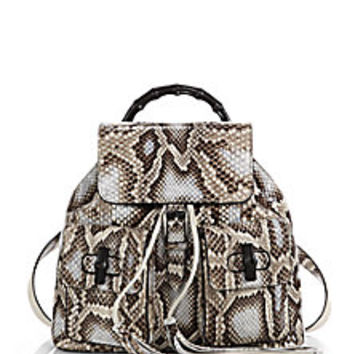 Gucci - Bamboo Sac Python Backpack - Saks Fifth Avenue Mobile