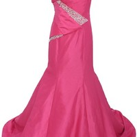 Dressystar Long Formal Fuchsia Prom Dresses