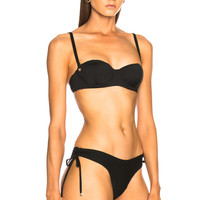 fleur du mal Balconette Bikini Top in Black | FWRD