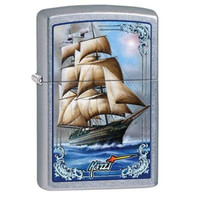WP Lighter Mazzi Ship Blue Wh - Zippo Manufacturing - 28425