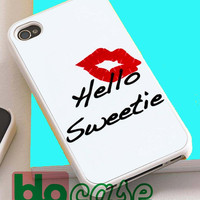 Kiss Hello Sweetie For Iphone 4/4s, iPhone 5/5s, iPhone 5C, iphone 6, and iPhone 6 Plus Case