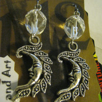 Half Moon Earring, with crystal