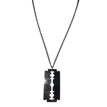Jessyka Robyn Razor Blade Necklace in Silver