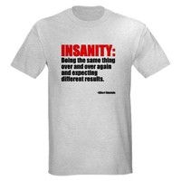 Insanity Six Sigma T-Shirt on CafePress.com