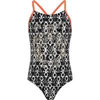 River Island Girls black aztec print studded swimsuit