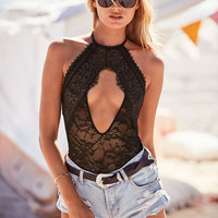 Lace High-neck Bodysuit - Victoria's Secret