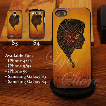 The Hunger Game Quote with silhouette Design for iPhone 4, iPhone 4s, iPhone 5, Samsung Galaxy S3, Samsung Galaxy S4 Case