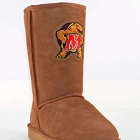 Gameday U Of Maryland Ladies Sheepskin Roadie Boots - Hickory