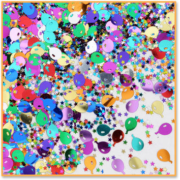 Balloons & Stars Confetti Case Pack 24