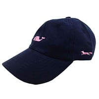 Whale Logo Baseball Hat in Blue Blazer w/ Pink Longshanks by Vineyard Vines