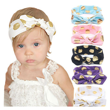 Newborn headwear Girls Cold Press Knot Elasticity Of The Baby Scrunchies Headband Children Hair Bands Hair Accessories 201