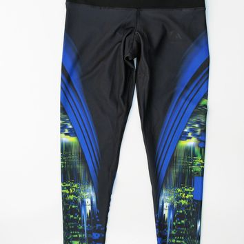 Adidas Techfit Medium Compression Climalite Graphic Leggings M NWOT