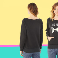 Funny fossil ladies Fleece sweatshirt