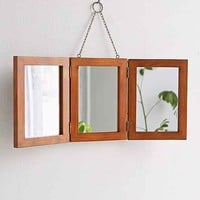 Tri-Fold Vanity Mirror- Brown One