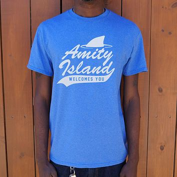 Amity Island Welcomes You [Jaws Inspired] Men's T-Shirt