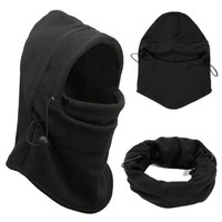 Black Outdoor Sports Camping Hiking Hat Survival Kit Ski Mask Beanie Winter