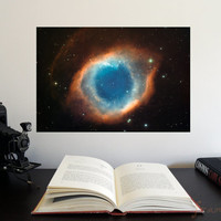 """The Helix Nebula 19"""" x 13"""" Poster - Science Astronomy Wall Art - A Window on the Universe series"""