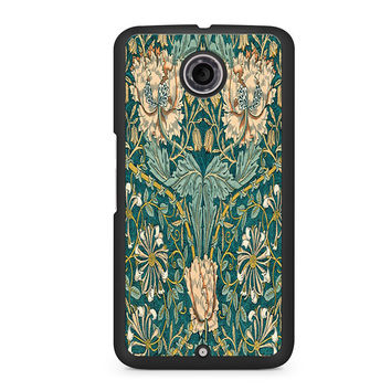 William Morris Honeysuckle Peach Flower Nexus 6 case