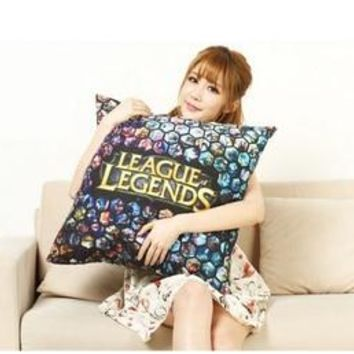 League of Legends Game Hero Corps animation custom pillow cover hot sales of 2016 free shipping customize printing Pillowcases