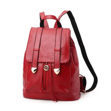 Student Backpack Children ZHIERNA 2017 New Fashion Backpacks Women Backpack Women's Travel Bags Soft Leather Package School Bags Students Backpack Ladies AT_49_3