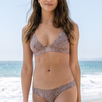 ACACIA SWIMWEAR - Awapuhi Top | Dark Snake