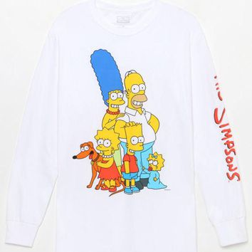 DCCKJH6 The Simpsons Family Long Sleeve T-Shirt