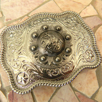 Horseback Riding Cowboy Belt Buckle, Horse Buckle, Womens Mens Kids Western Belt Buckle, Country Girl, Country Boy, Custom Concho Belt