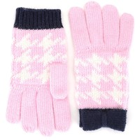 Peony Girls Pixie Houndstooth Bow Gloves by Juicy Couture, O/S