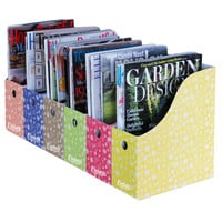 Evelots 6 Magazine/File Holders With Adhesive Labels,Assorted Colors & Styles