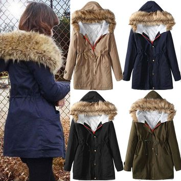 Thicken Winter Padded Slim Women's Fashion Strong Character Jacket [45261783065]