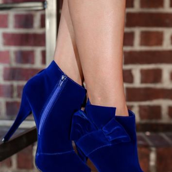 Nothin' But Sass Bootie-Royal Blue
