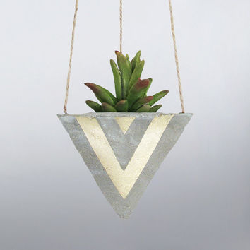 Air Planter, Hanging Planter, Succulent Planter, Concrete Planter, Indoor Planter, Modern Planter, Geometric Planter, Mini Planter, Gold