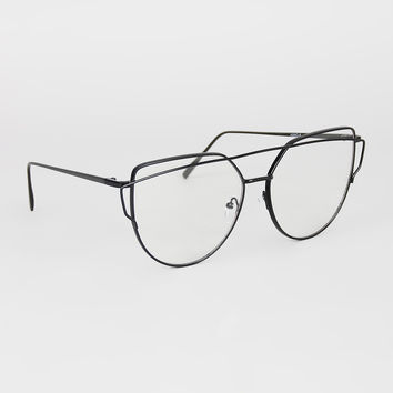 Double Brow Wire Frame Glasses