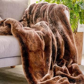 faux puma fur throw blanket urban outfitters  number 1