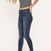 Cheap Monday Spray On High Waisted Blue Skinny Jeans - Urban Outfitters