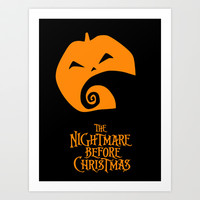 The Nightmare before Christmas Art Print by Citron Vert