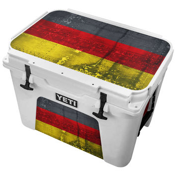 Metal German Flag Skin for the Yeti Tundra Cooler