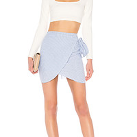 by the way. Wendy Wrap Skirt in Blue & White | REVOLVE