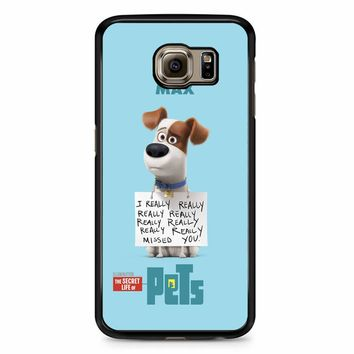 The Secret Life Of Pets Max Poster Samsung Galaxy S6 Case