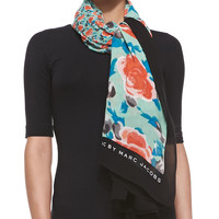 Spliced Jerrie Rose Scarf, Jade, Size: ONE SIZE, green - MARC by Marc Jacobs