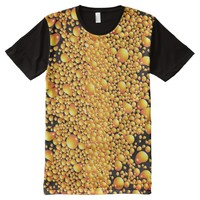 Yellow bubble pattern All-Over-Print shirt