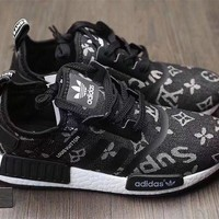 Adidas x Gucci x Louis Vuitton x Supreme NMD Trending Running Sports Shoes Sneakers F Black