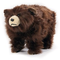 Shaggy Grizzly Bear Footstool